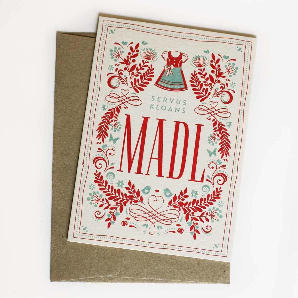 Glückwunschkarte Madl